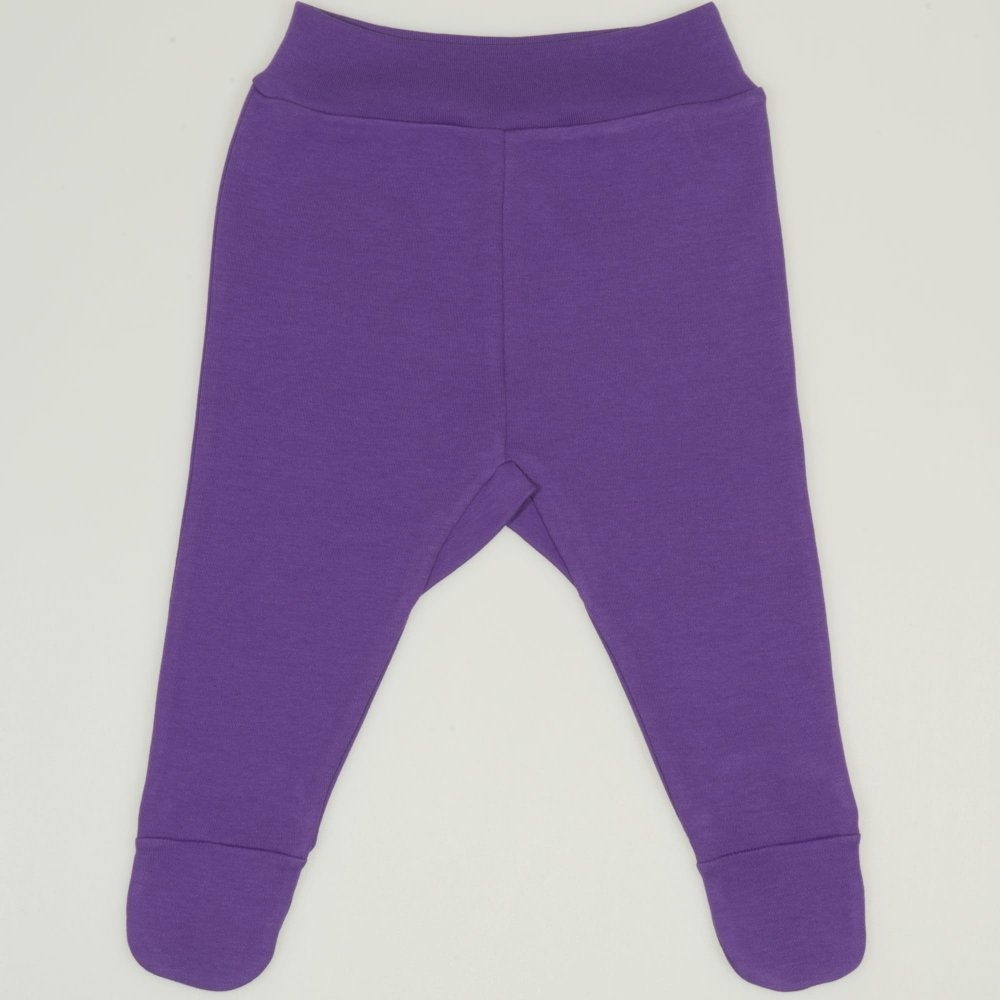 Pantaloni cu botosei banda mov deep lavender   liloo