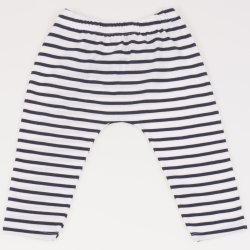 Pantaloni albi cu dungi negre