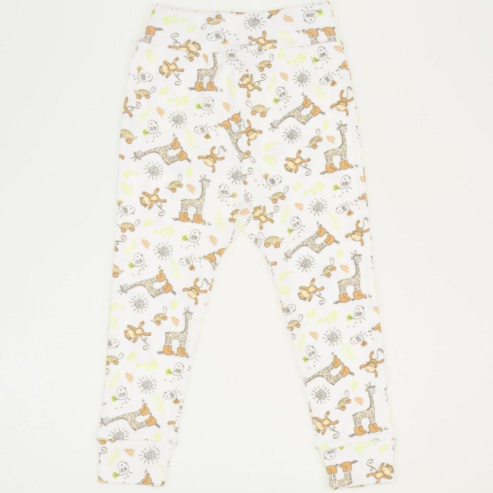 Pantaloni de casa cu manseta (izmene copii) imprimeu jungle   liloo