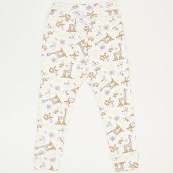 Pantaloni de casa cu manseta (izmene copii) imprimeu jungle