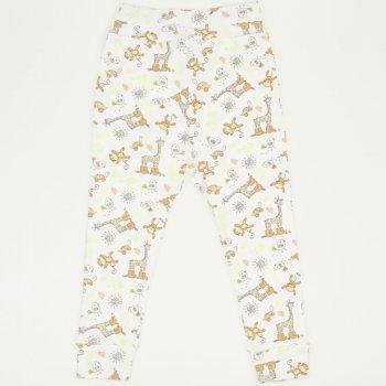 Pantaloni de casa cu manseta (izmene copii) imprimeu jungle | liloo