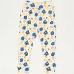Pantaloni de casa cu manseta (izmene copii) imprimeu stars-rockets | liloo