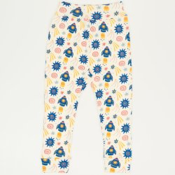 Babysoft trousers with stars-rockets print