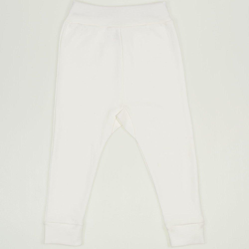 Pantaloni de casa cu manseta (izmene copii) blanc de blanc | liloo