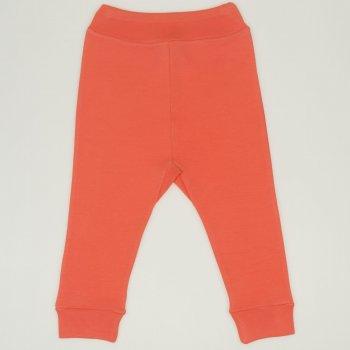 Pantaloni de casă cu manşetă (izmene copii) somon living coral | liloo
