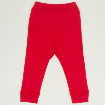 Pantaloni de casă cu manşetă (izmene copii) rosu tomato | liloo