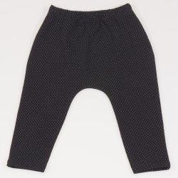 Pantaloni negri model puncte albe