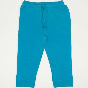 Pantaloni trening subtiri enamel-blue cu buzunar | liloo.ro