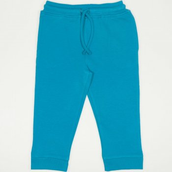 Pantaloni trening enamel blue cu buzunar | liloo.ro