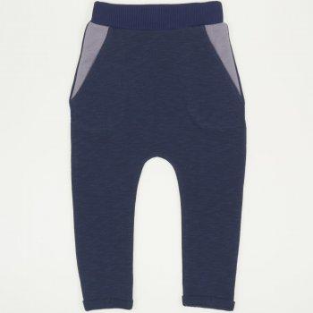 Pantaloni  trening cu tur albastru inchis