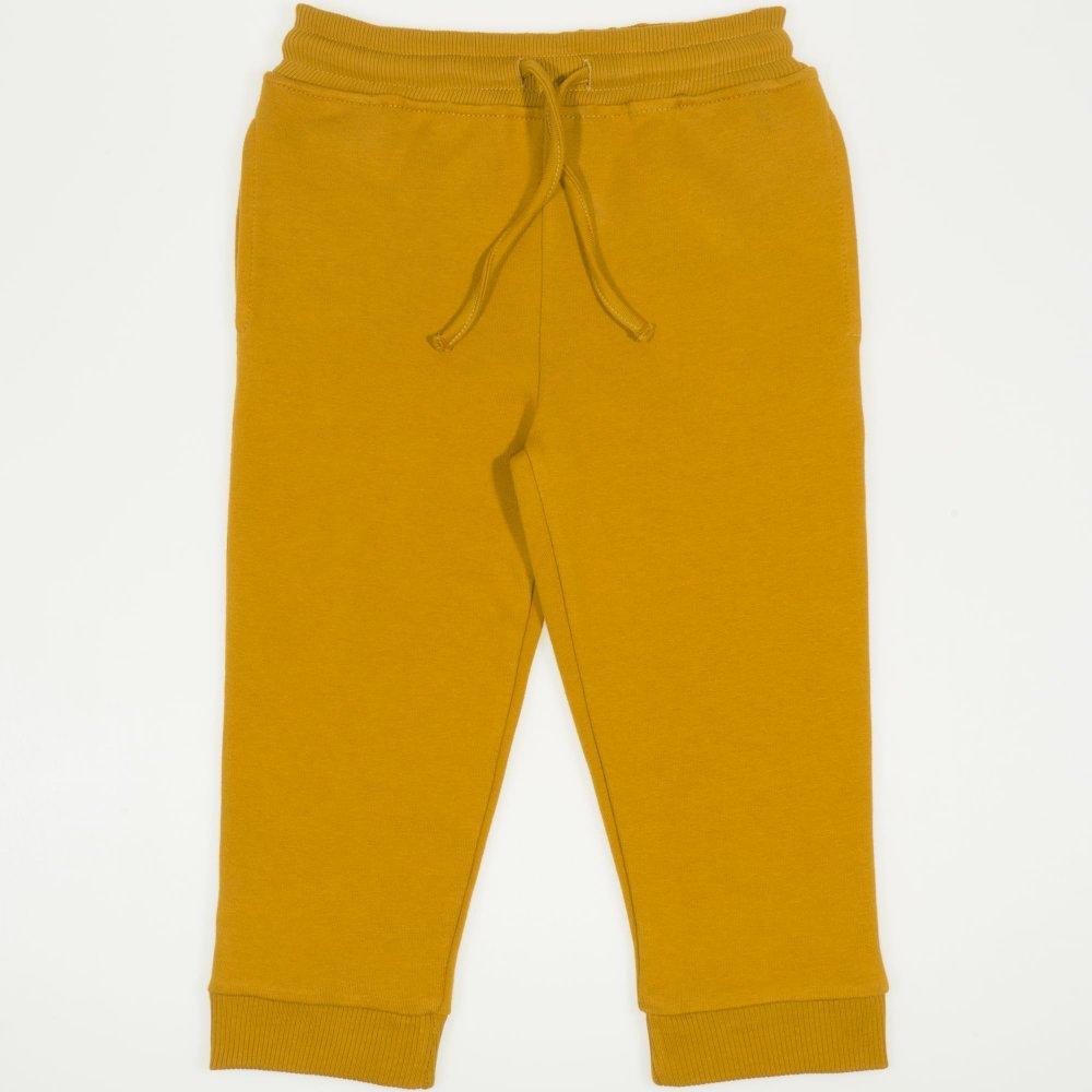 Pantaloni trening grosi buckthorn-brown cu buzunar | liloo.ro