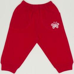 Pantaloni trening rosii cu buzunar imprimeu fluturas
