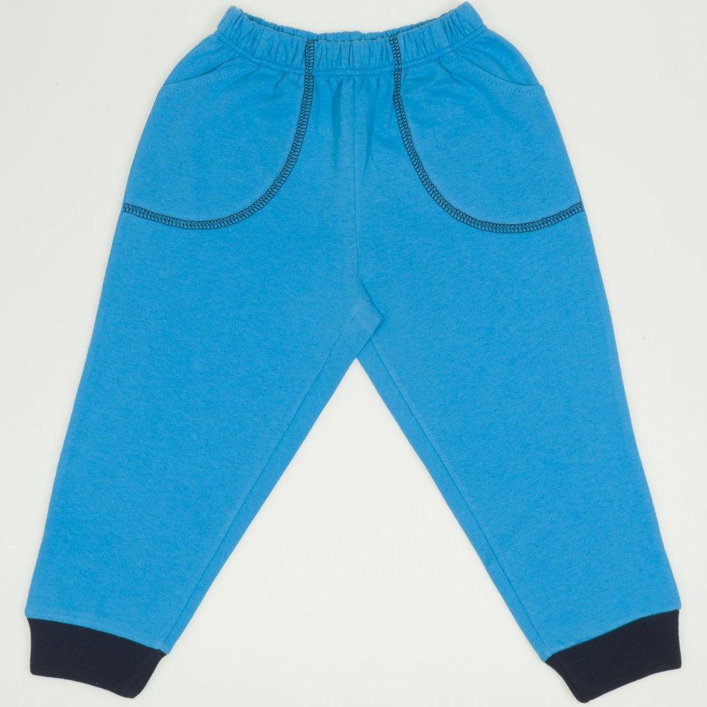 Pantaloni trening turcoaz cu buzunar | liloo