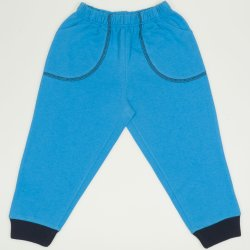 Turquoise thin pull-on pants with pockets