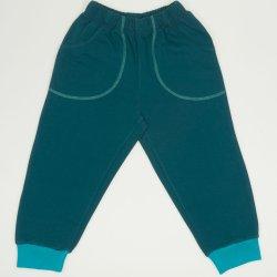 Pantaloni trening subtiri verde inchis cu buzunar