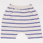 Pantaloni scurti bej cu dungi albastre | liloo
