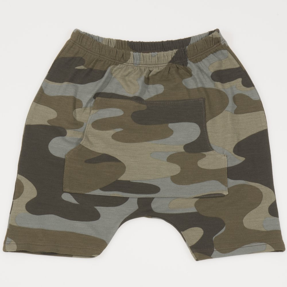 Pantaloni scurti imprimeu model camuflaj | liloo