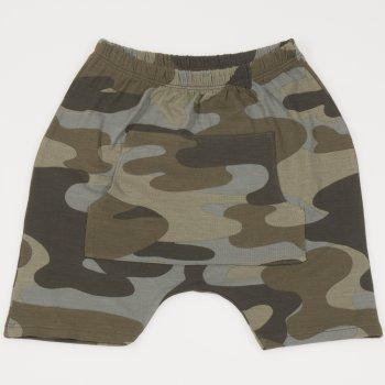 Pantaloni scurti imprimeu model camuflaj