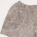 Pantaloni scurti gri nisipiu imprimeu model bule | liloo