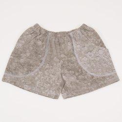 Pantaloni scurti gri nisipiu imprimeu model bule