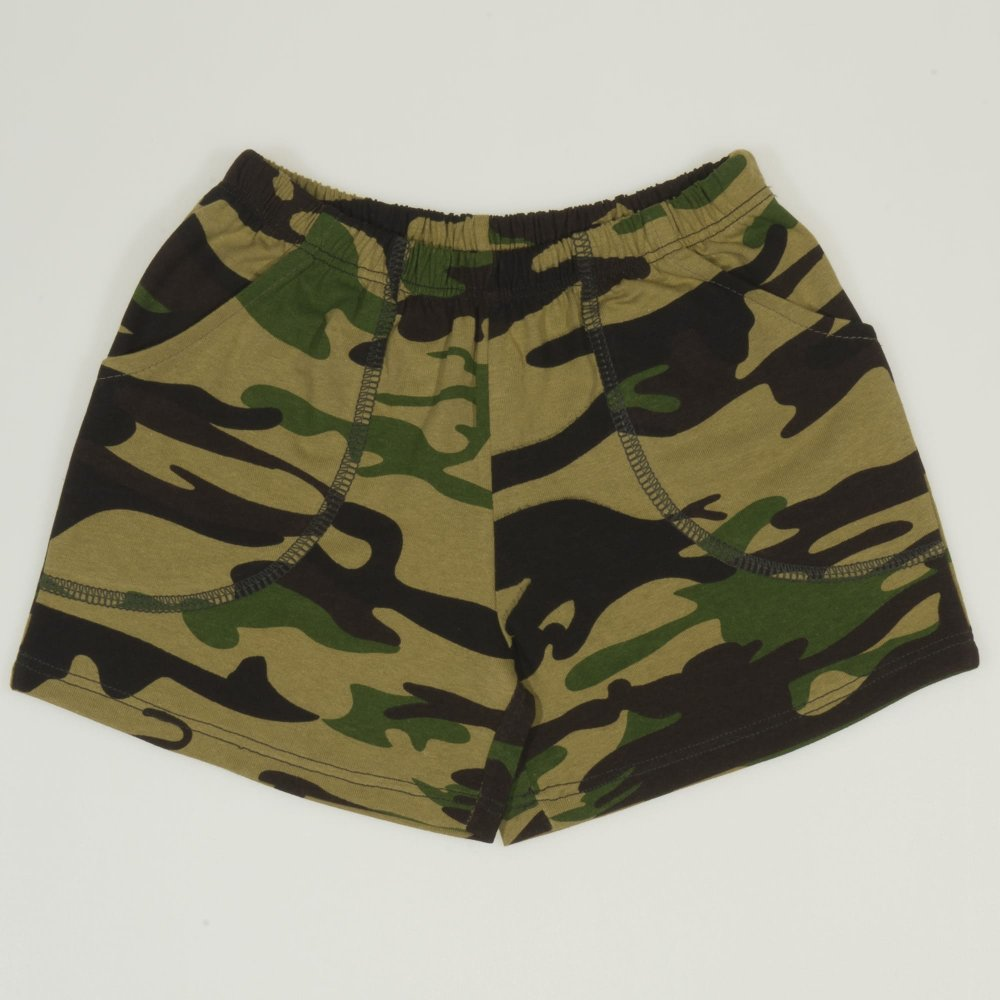 Pantaloni scurti imprimeu texturat camuflaj | liloo