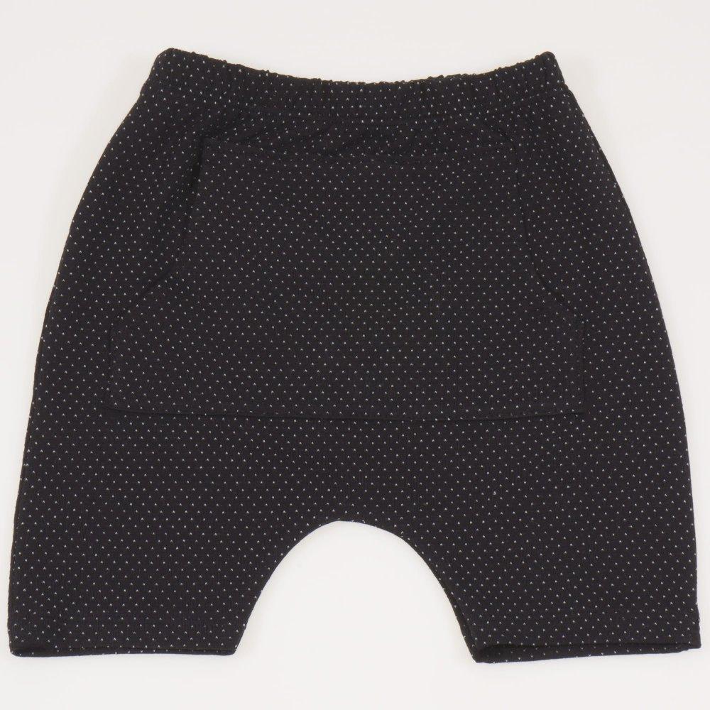 Pantaloni scurti negri imprimeu model puncte albe | liloo