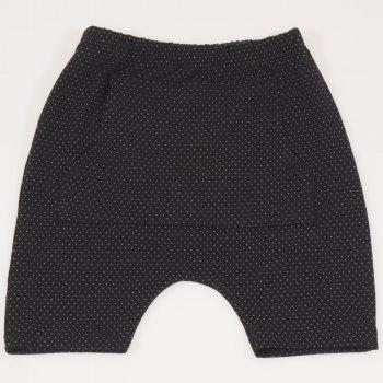 Pantaloni scurti negri imprimeu model puncte albe