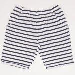 Pantaloni scurti pana deasupra genunchiului albi cu dungi negre | liloo