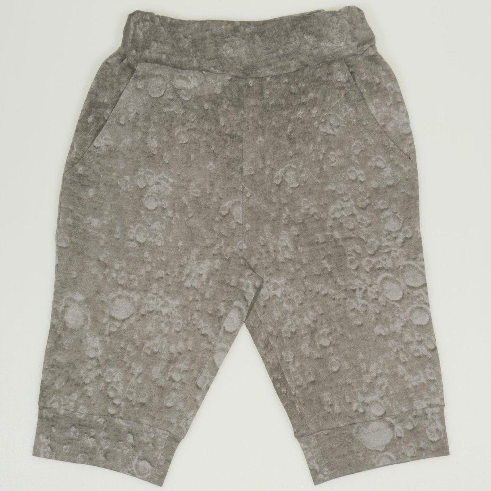 Pantaloni trei sferturi gri nisipiu imprimeu model bule | liloo