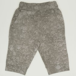 Grey sand capri trousers with pattern bubble print