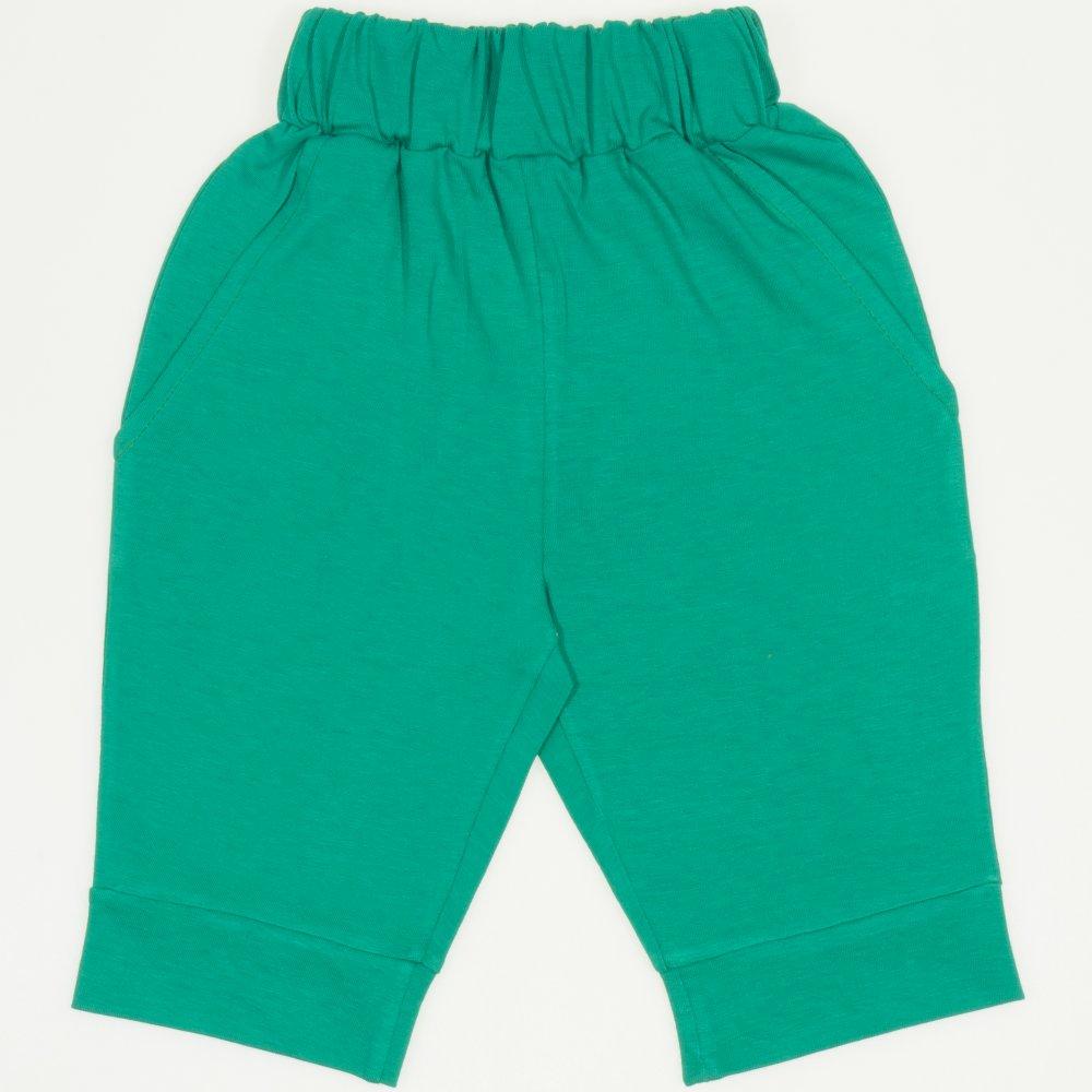 Pantaloni trei sferturi verde mint | liloo