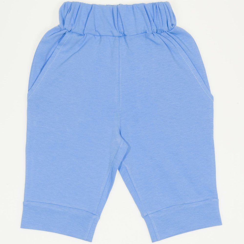 Pantaloni trei sferturi azur închis | liloo