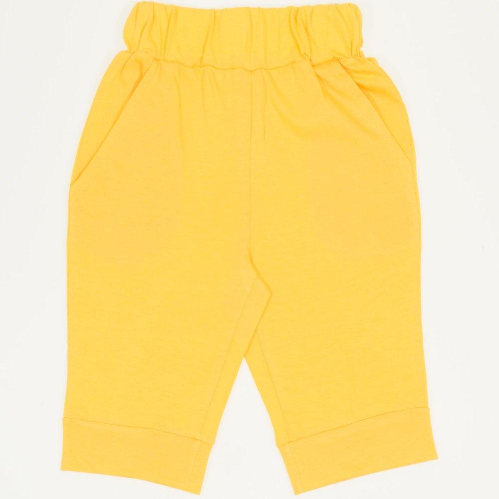 Pantaloni trei sferturi galbeni | liloo
