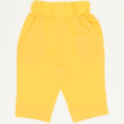 Yellow capri trousers