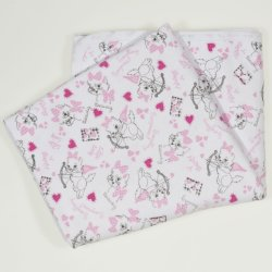 Double layer blanket with cats print