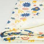 Paturica subtire (simpla) imprimeu model stars-rockets | liloo