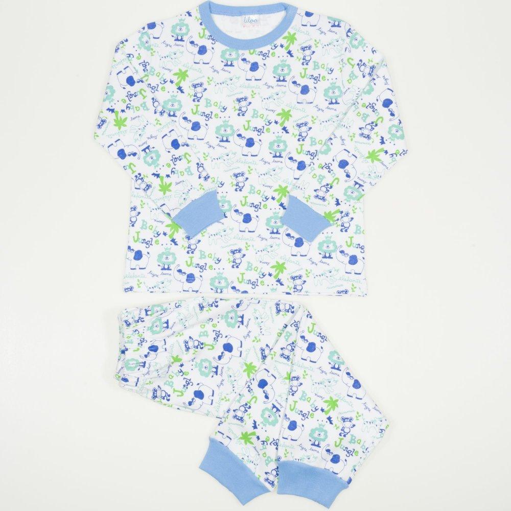 Pijamale groase imprimeu model baby jungle | liloo