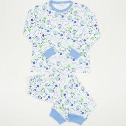 Pijamale groase imprimeu model baby jungle