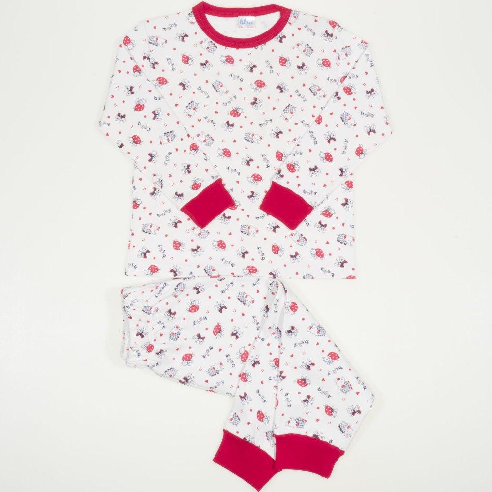 Pijamale groase imprimeu model elefantei rosii | liloo