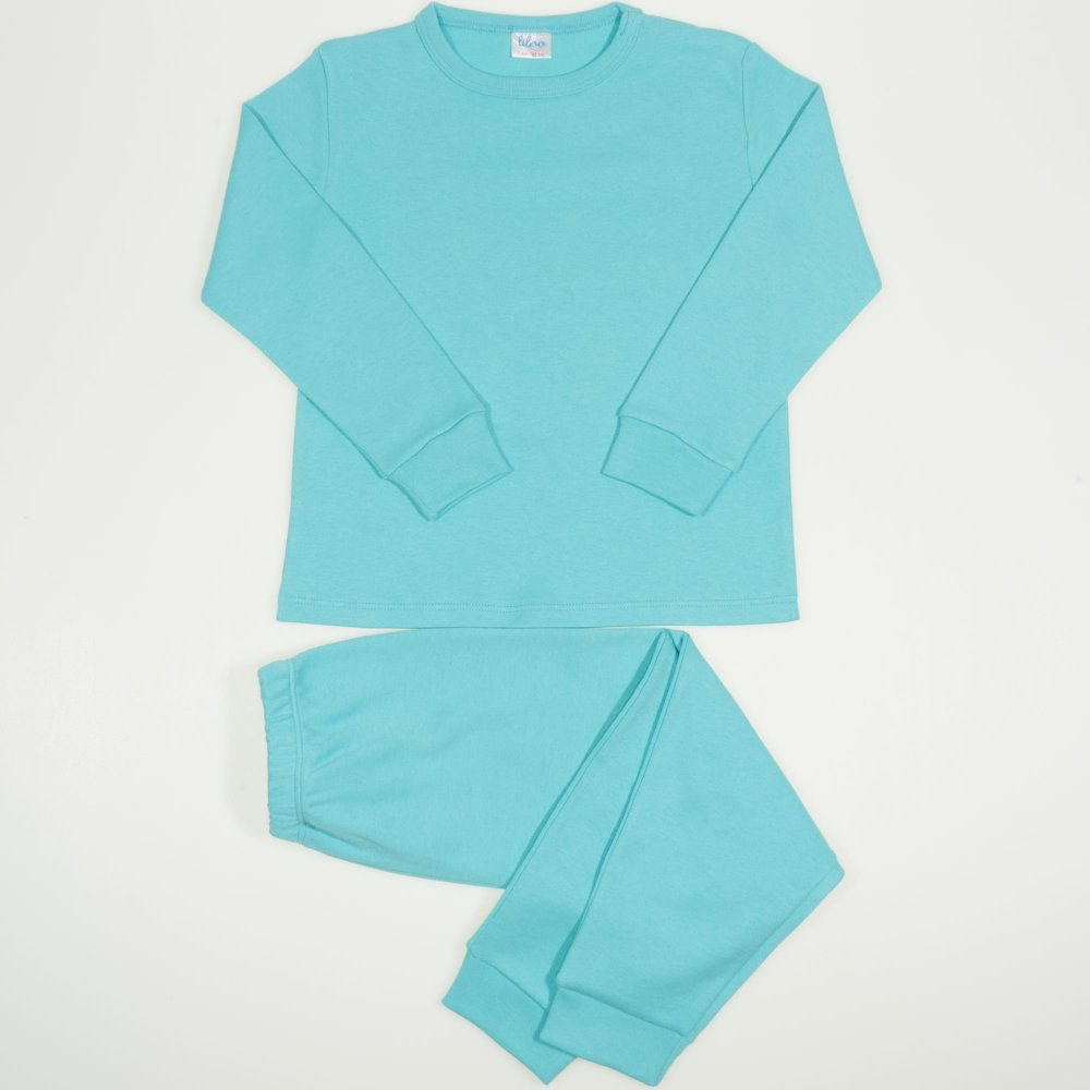 Pijamale groase aqua uni | liloo