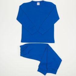 Pijamale groase classic blue uni
