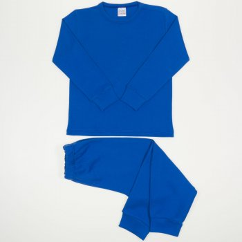 Pijamale groase classic blue uni | liloo