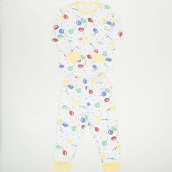Long-sleeve thick pajamas with balloons print