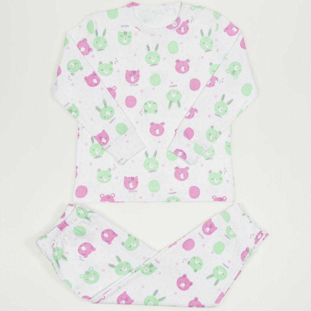 Pijamale groase imprimeu model sleepy si happy | liloo