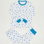 Pijamale groase imprimeu model stelute turcoaz | liloo