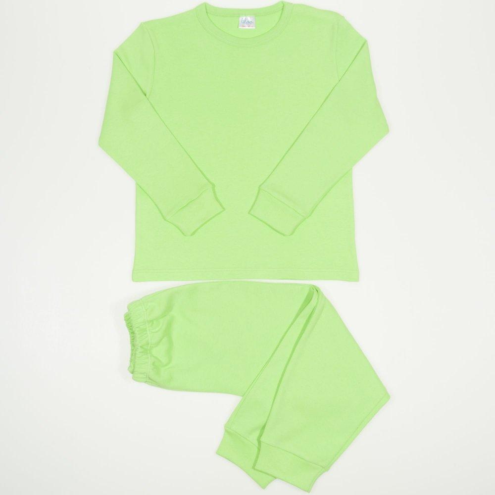 Pijamale groase verde uni | liloo
