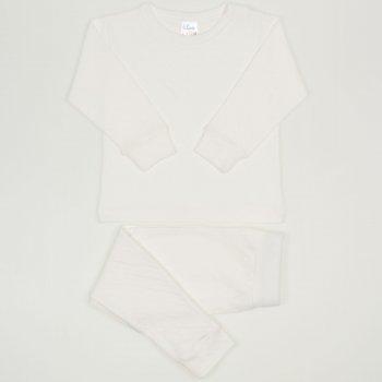 Pijamale bebelusi ecru - material multistrat premium cu model