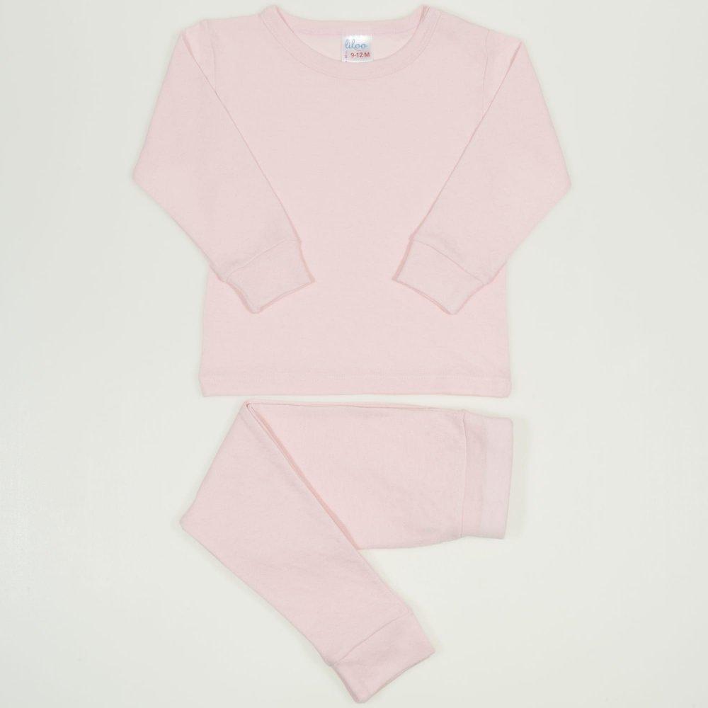 Pijamale bebelusi roz pal - material multistrat premium cu model   liloo