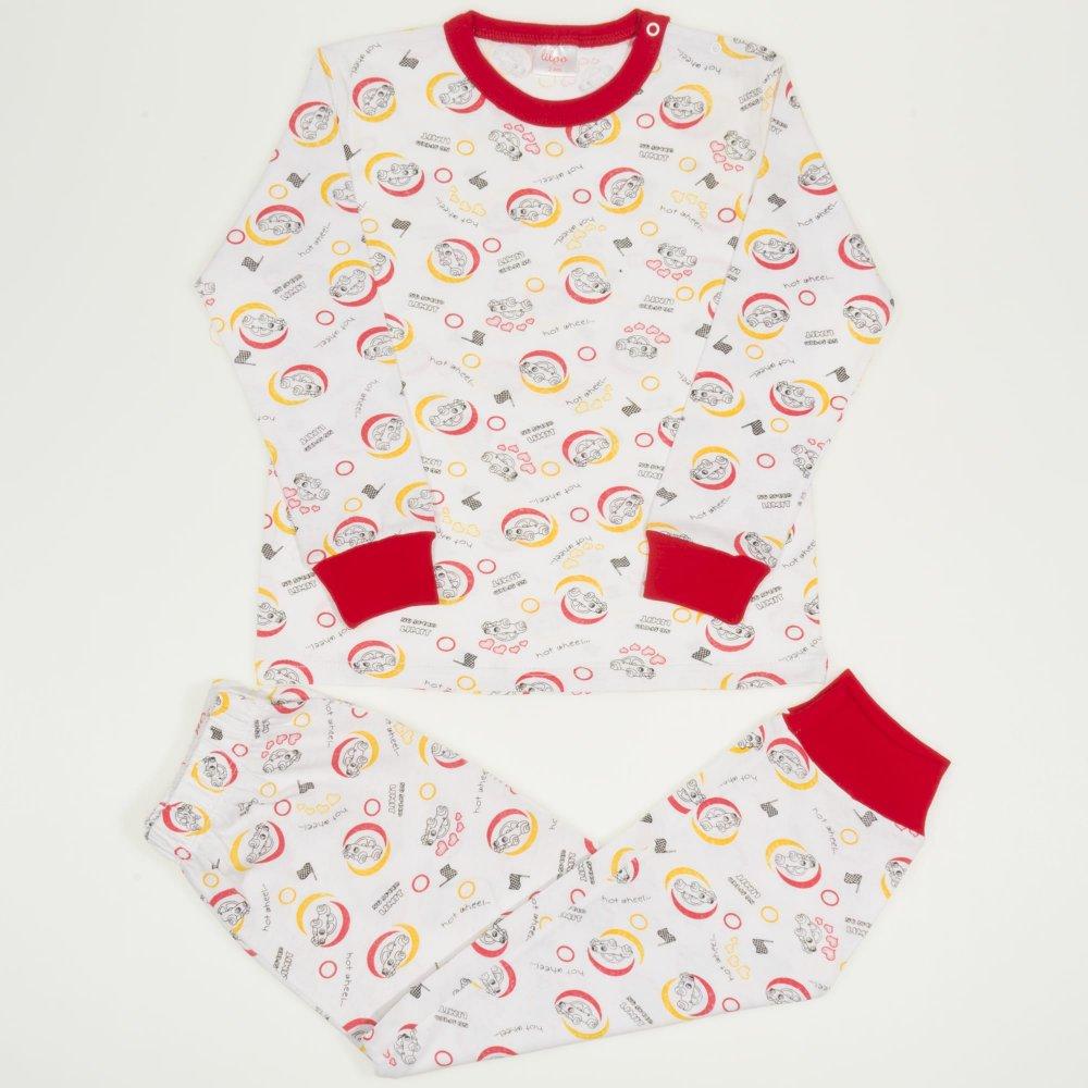 Pijamale primăvară-toamnă imprimeu model masinute   liloo