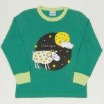 "Pijamale primavara-toamna verde mint imprimeu ""Good night"" | liloo"
